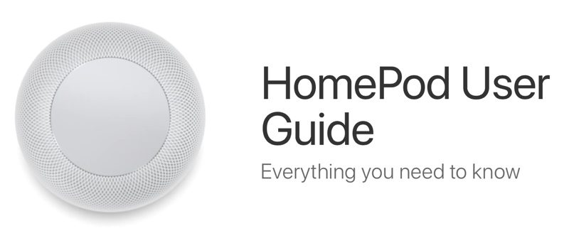 apple shares official homepod user guide
