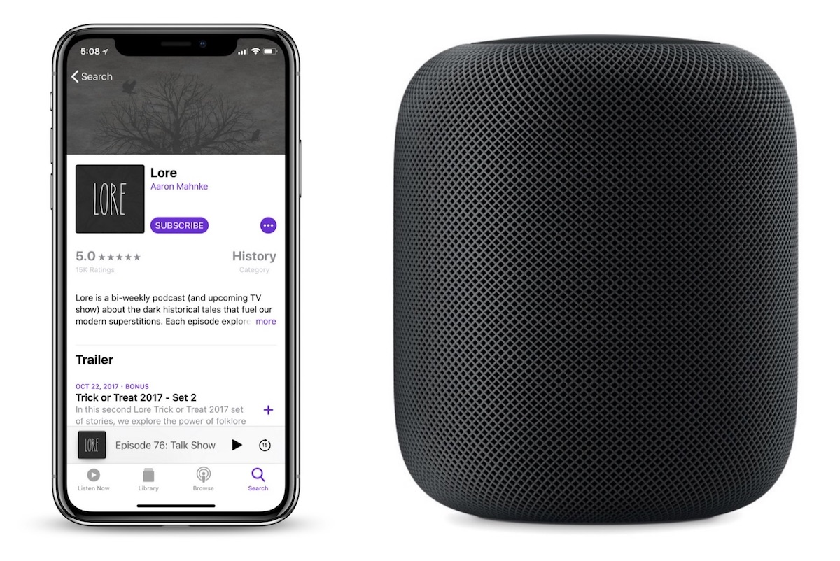 how to play and control podcasts on homepod with siri