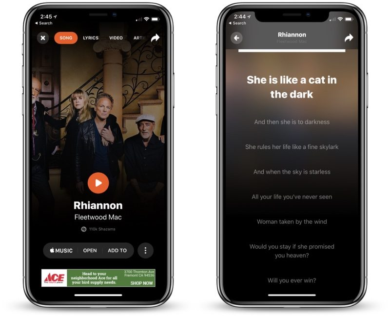 shazam for ios gains revamped interface real time lyric syncing feature