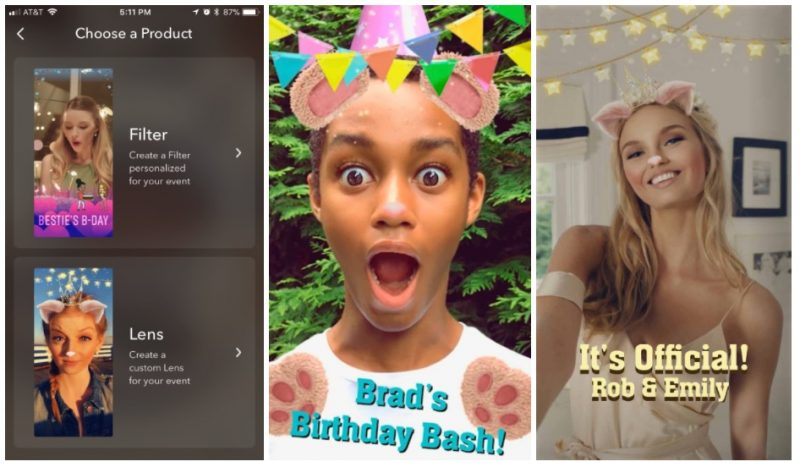 snapchat launches create your own lens studio within ios app adds new caption styles for snaps