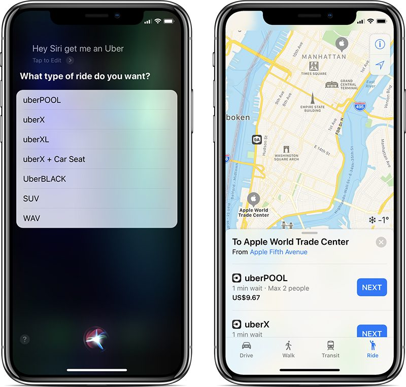 uber s latest app update restores siri and apple maps integrations