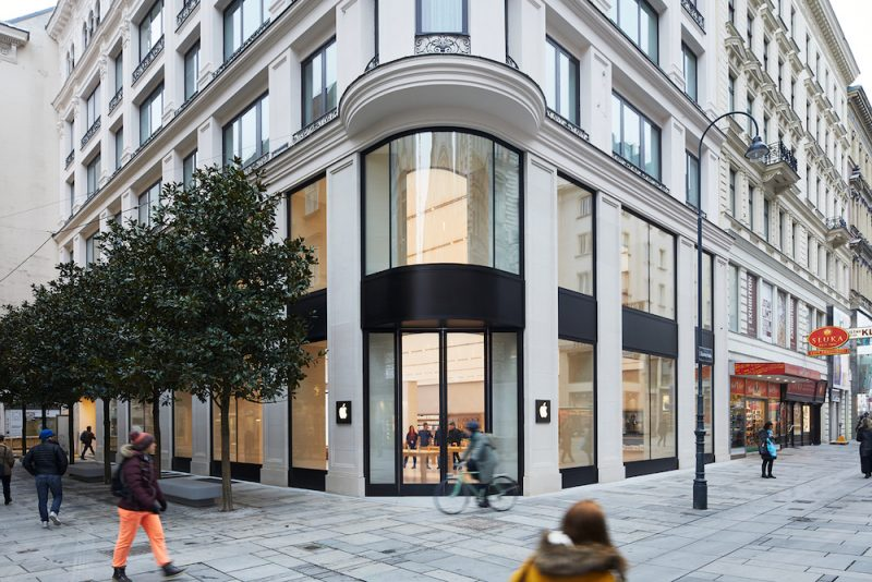 apple shares new photos of first store in austria opening february 24
