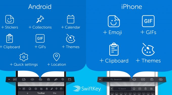 swiftkey updates ios app with new toolbar for quicker access to gifs and more