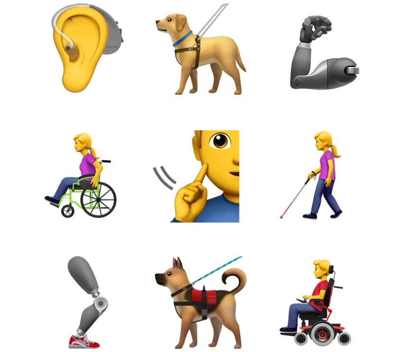 apple submits new accessibility emojis to unicode consortium
