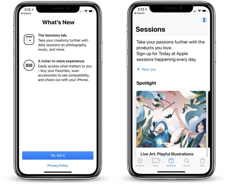 apple store app gains major update with refreshed design sessions tab and more personal in store experience