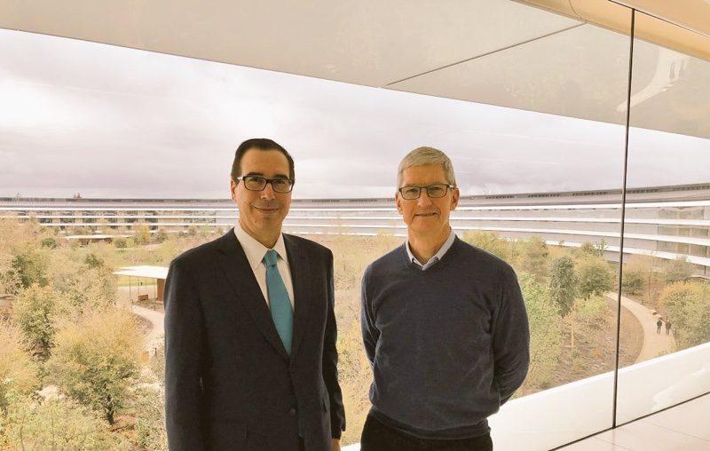 u s treasury secretary steven mnuchin visits apple park