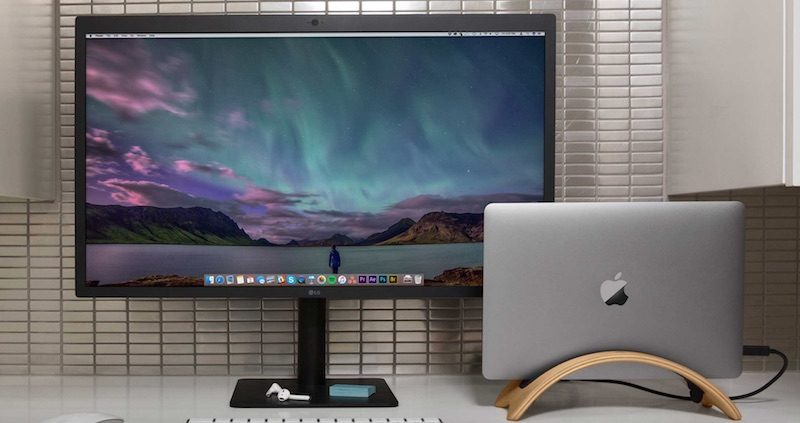 twelve south s hardwood bookarc md stand now compatible with 2016 and newer macbook pro