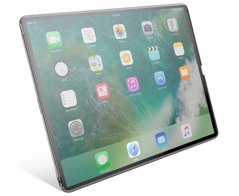 case maker s rendering depicts ipad pro with no home button slimmer bezels update fake