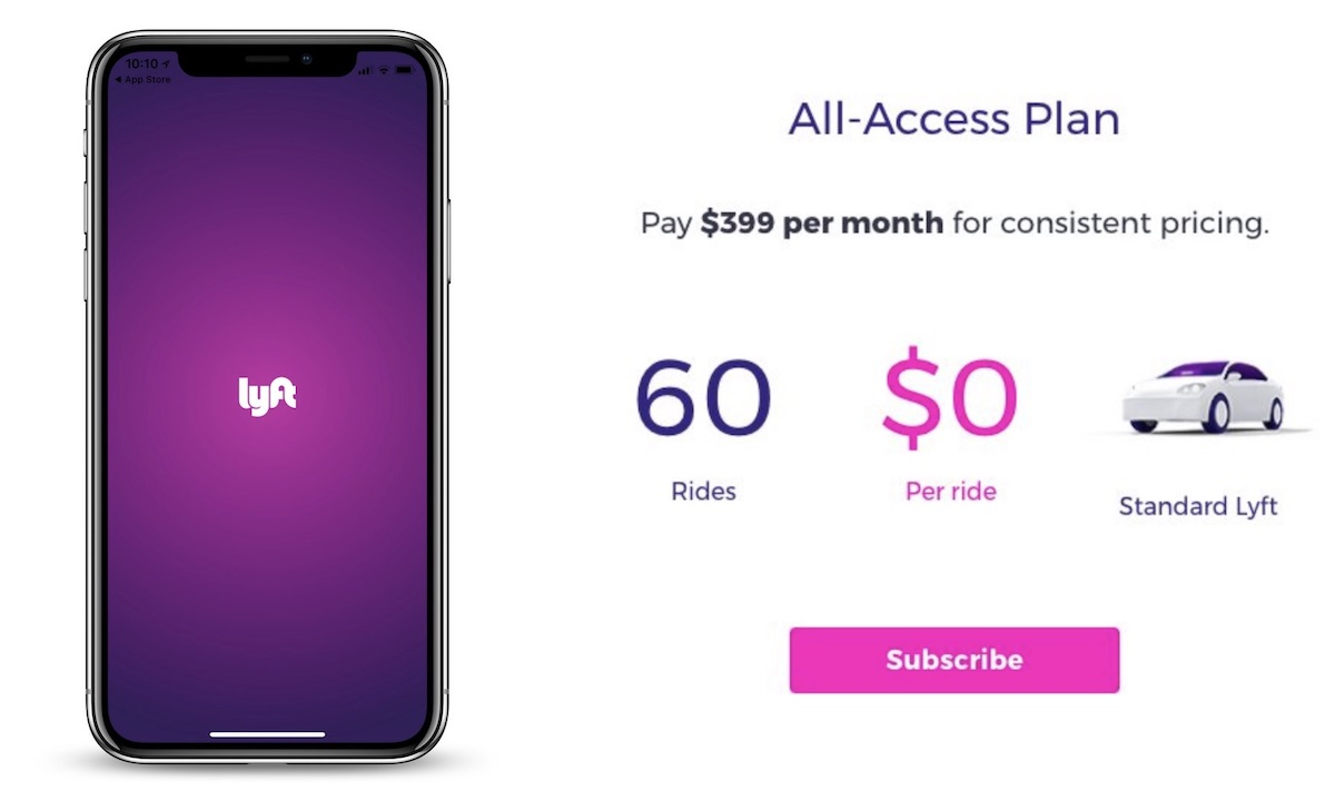 lyft testing monthly subscription plans with prices reportedly starting at 200 month
