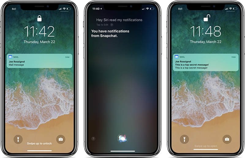 apple to prevent siri from reading hidden notifications on lock screen in future software update