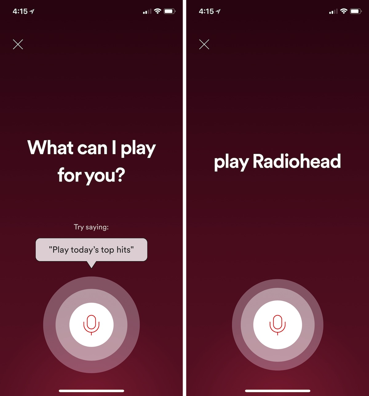 spotify testing voice control features in ios app