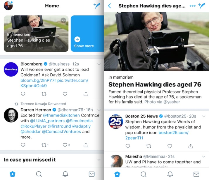 twitter experimenting with curated news timelines planning camera first feature