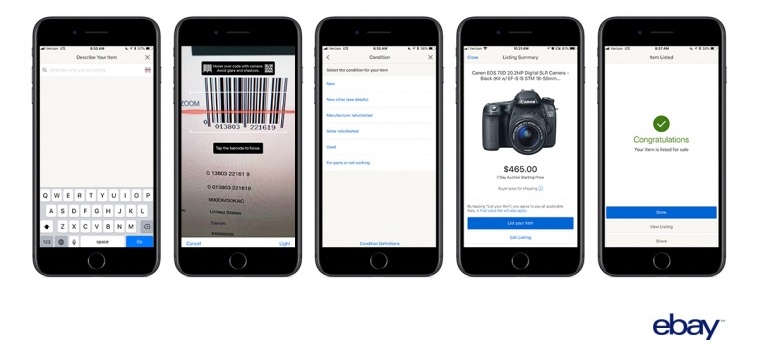 ebay for ios gains barcode scanning feature that can complete listing process within seconds