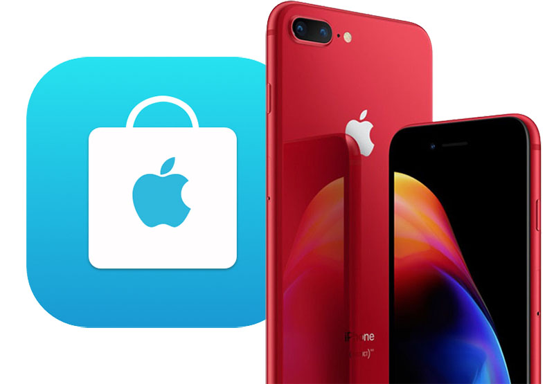 (PRODUCT)RED iPhone 8 and iPhone 8 Plus Now Available for In-Store Pickup at Apple Retail Stores, ONLY infoTech