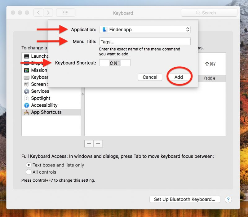 How to Apply Color Tags to Items in macOS Finder Using Custom Keyboard Shortcuts, ONLY infoTech