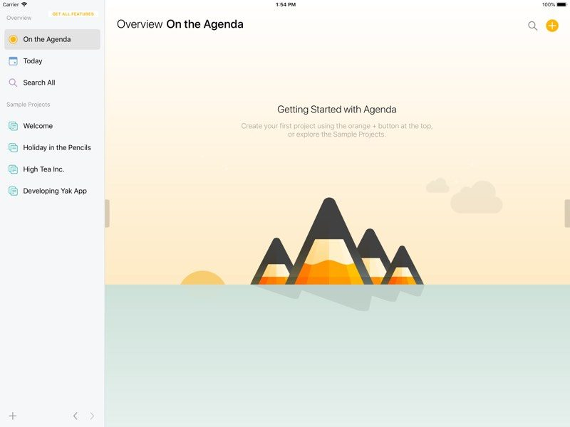 popular date based note taking app agenda expands to ios
