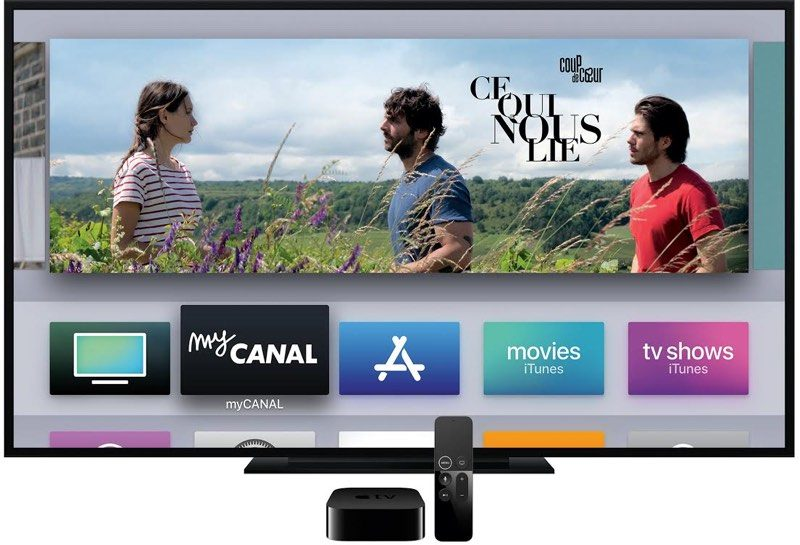 apple partners with french cable company canal to offer apple tv 4k as cable box alternative