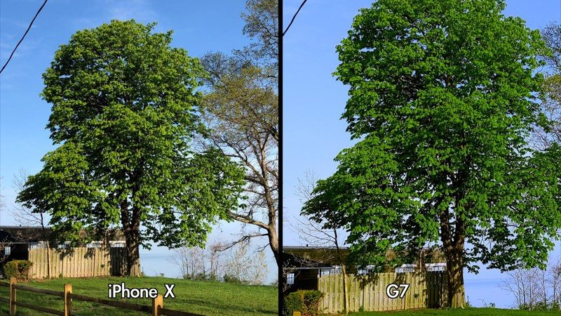 iphone x camera compared to lg g7 thinq camera