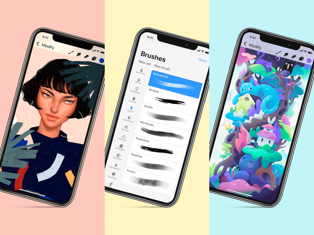 procreate pocket gets major 2 0 update with new interface hundreds of handcrafted brushes and more