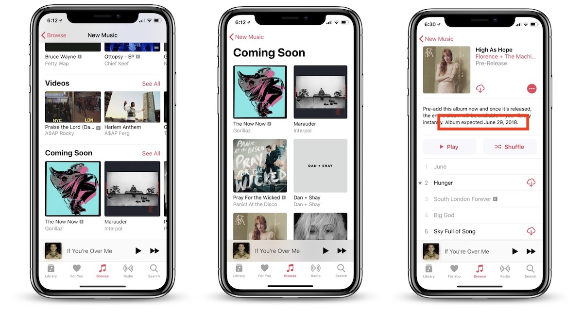 apple music rolling out update with coming soon section album launch dates and new artist profiles