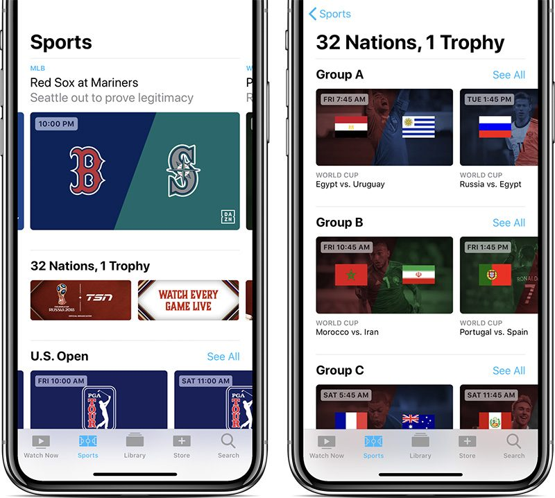 apple s tv app gains live sports and news in canada as fifa world cup begins