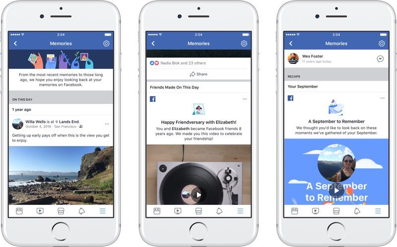 facebook launches new memories section for reflecting on old photos posts and life events