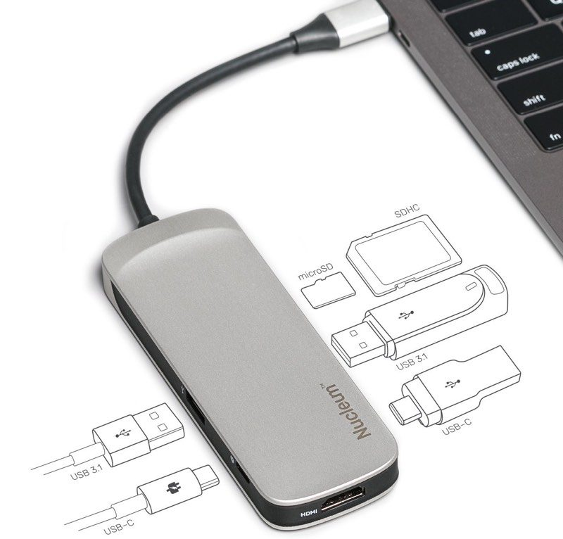 review kingston s nucleum usb c hub adds much needed ports to your macbook or macbook pro