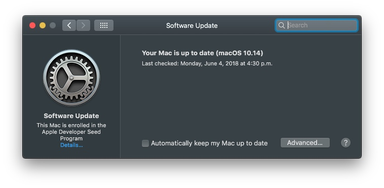 macos 10 14 mojave removes software update mechanism from the mac app store and returns it to system preferences