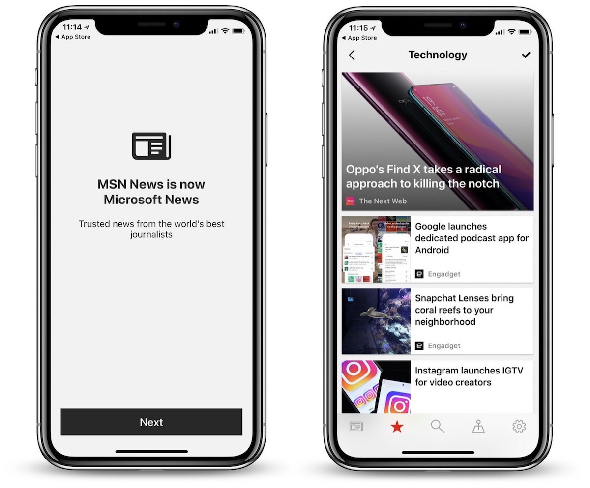 microsoft launches rebranded microsoft news app for ios with dark mode and more