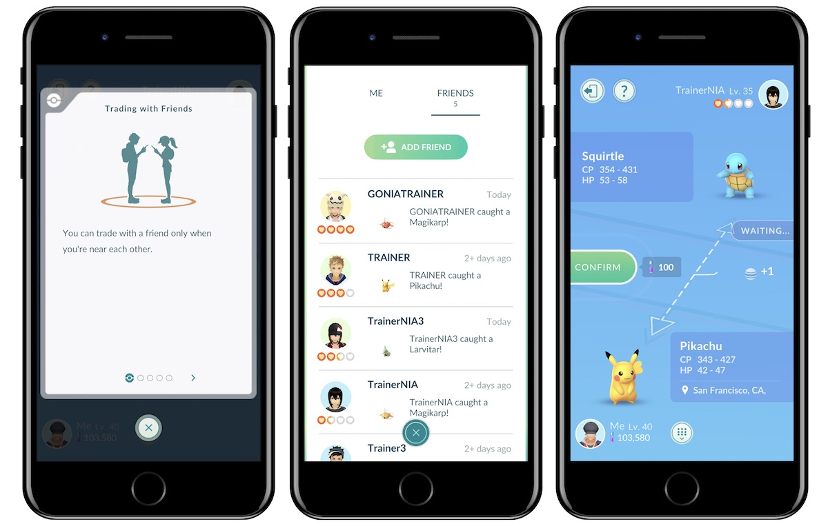 pokmon go gaining ability to trade pokmon with nearby friends this week