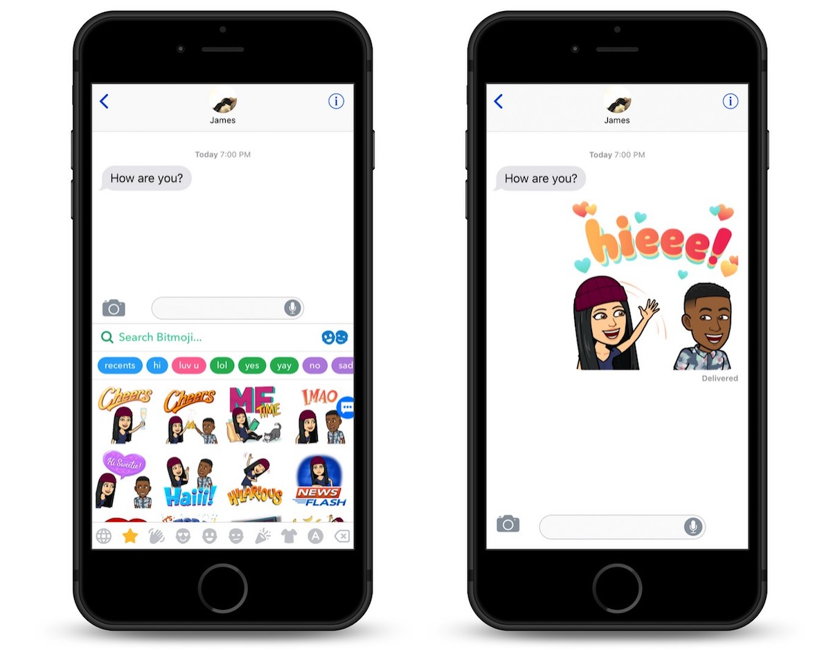snapchat expanding bitmoji friendmojis to apple s messages app for first time