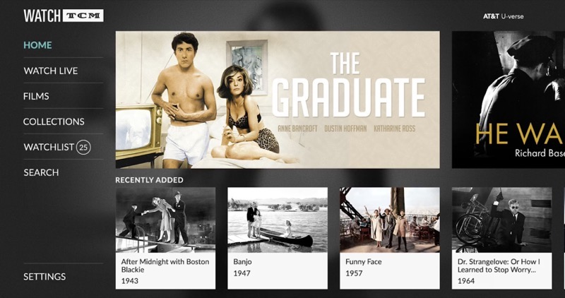 turner classic movies launches watch tcm tvos app with thousands of classic films on demand