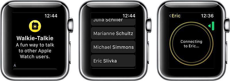 watchos 5 beta 2 includes functional walkie talkie app