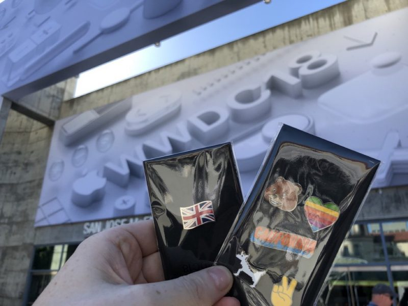wwdc 2018 conference swag includes levi s jacket and new apple themed pins