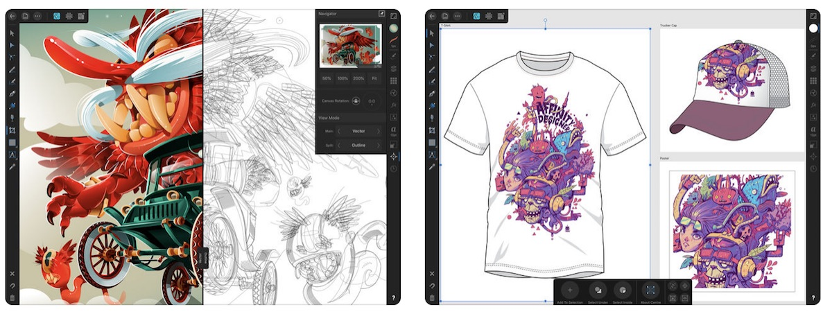 graphic design app affinity designer launches for ipad with apple pencil support