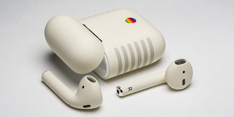 colorware releases custom painted airpods with classic macintosh design for 399
