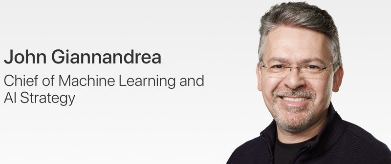 apple updates leadership page to include new ai chief john giannandrea