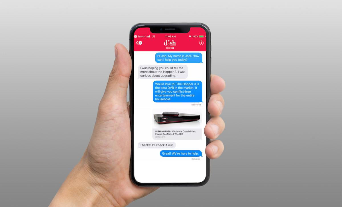 dish becomes first pay tv provider to support apple business chat