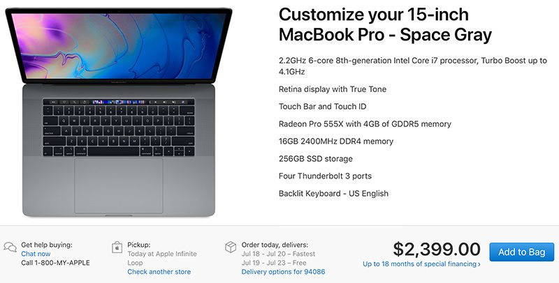 2018 macbook pro models now available for in store pickup in the united states