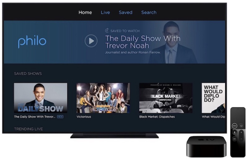 live streaming tv service philo launches on apple tv