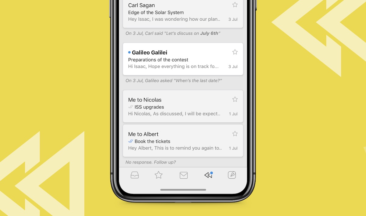 newton mail updates ios app with recap feature to remind you about missed messages