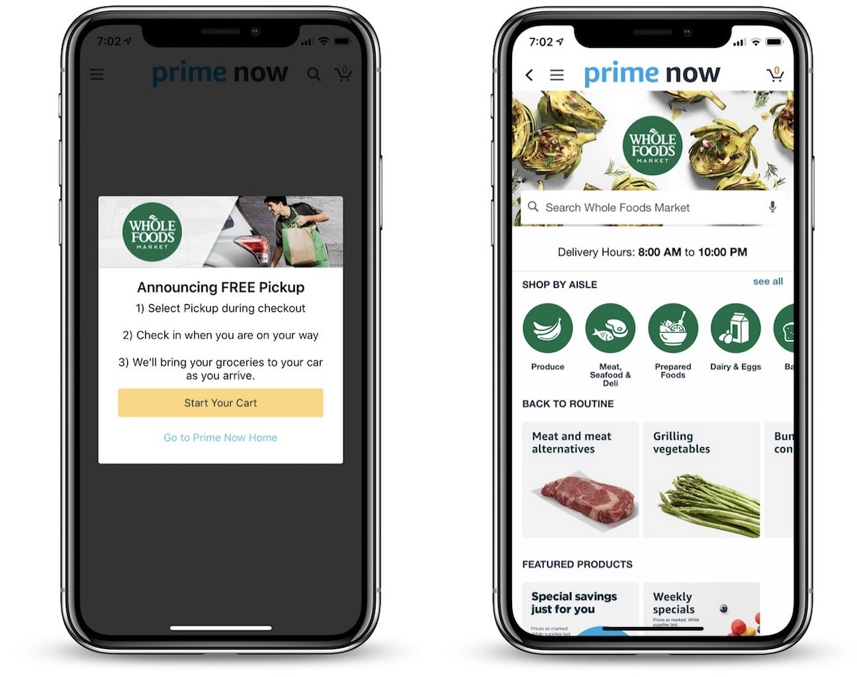 amazon launches grocery pickup at select whole food stores using prime now mobile app
