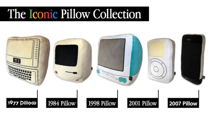 throwboy launches new line of pillows designed to look like apple devices
