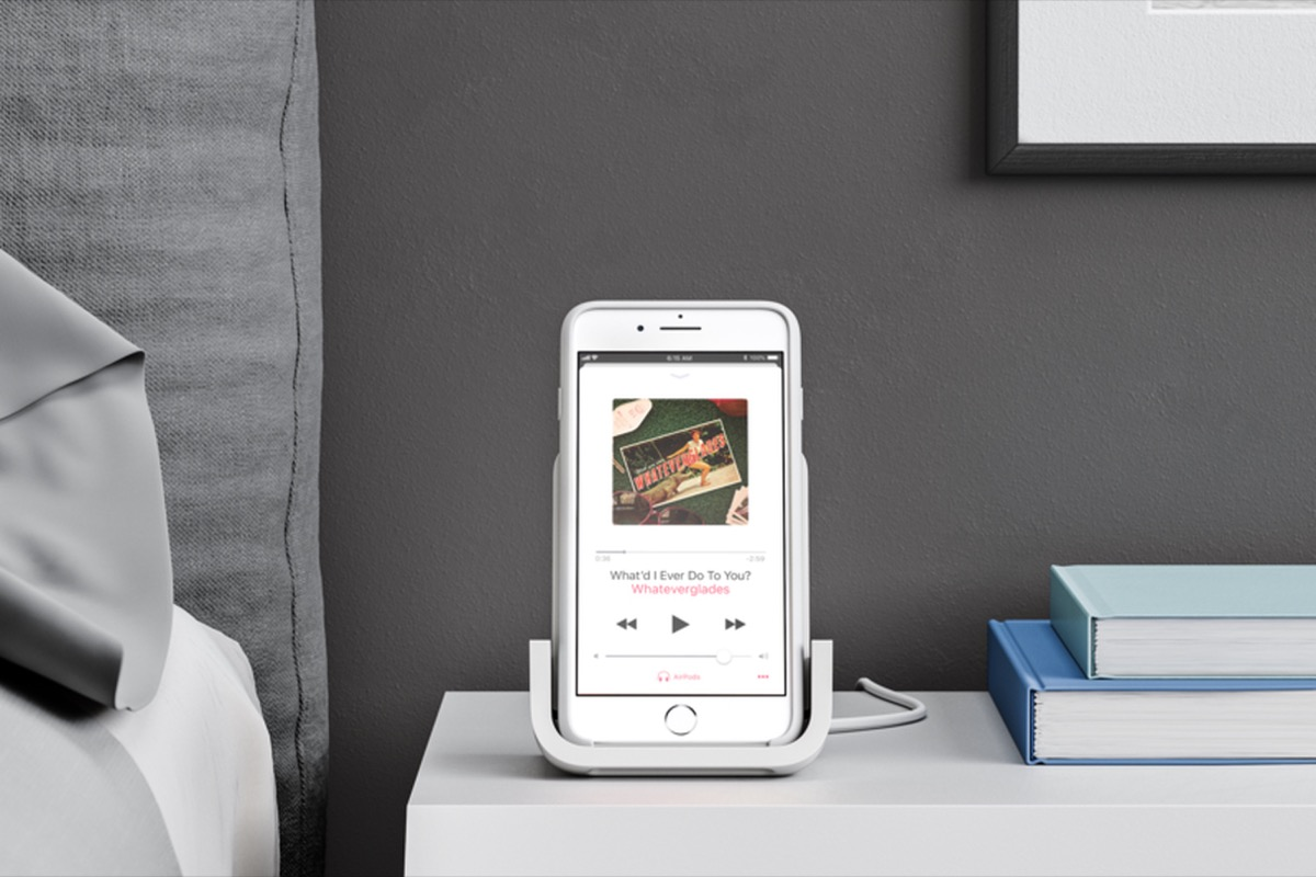 logitech announces apple designed powered wireless charging stand for iphone 8 iphone 8 plus and iphone x