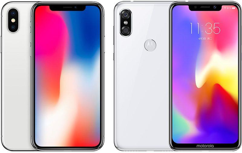 motorola s new p30 smartphone blatantly copies iphone x