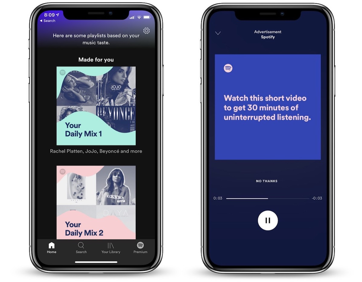 spotify testing way for free tier users to skip ads any time they want