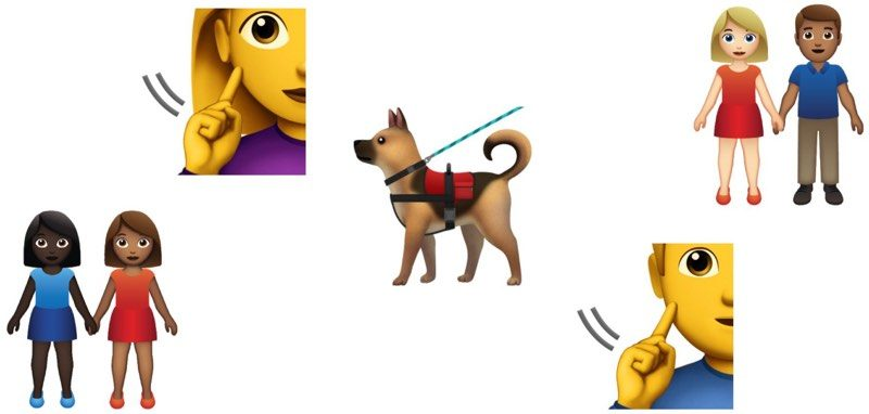 new 2019 emoji candidates include service dog deaf person and more couples