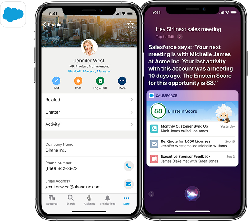 salesforce partners with apple will release sdk for ios later this year and redesigned ios app in early 2019