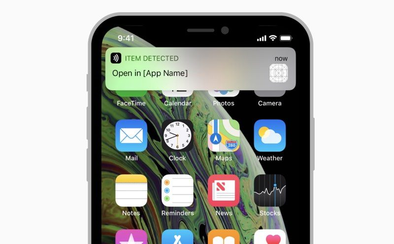 new 2018 iphones support background nfc tag reading no app required