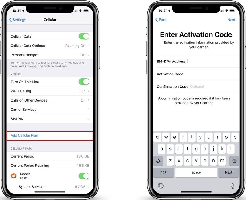 Esim Functionality Available In Ios 12 1 But Carrier Support Is